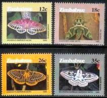 ZIMBABWE 1986, Mint Never Hinged Stamps, Butterflies, Nrs. 344-347, #5094 - Zimbabwe (1980-...)