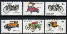 ZIMBABWE 1986, Mint Never Hinged Stamps, Motorcycles & Automobiles, Nrs. 350-355, #5096 - Zimbabwe (1980-...)