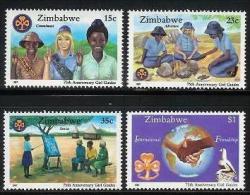 ZIMBABWE 1987, Mint Never Hinged Stamps, Girl Guides, Nrs. 364-367, #5100 - Zimbabwe (1980-...)