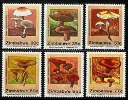 ZIMBABWE 1992, Mint Never Hinged Stamps, Mushrooms, Nrs. 476-481, #5118 - Zimbabwe (1980-...)