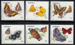 ZIMBABWE 1992, Mint Never Hinged Stamps, Butterflies, Nrs. 488-493, #5120 - Zimbabwe (1980-...)