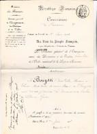 DOCUMENT MINISTERE ET DES FINANCES -1908- NOMINATION RECEVEUR DE THONON  A LIBOURNE - - Decrees & Laws