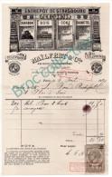 Paris, Mailfert & Cie, Entrepôt De Strasbourg, Charbon, Bois, Coke, Briquettes, Quai De La Marne, Facture 1891 - 1800 – 1899