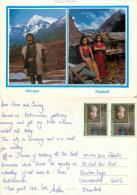 Sherpa And Thakali, Nepal Postcard Posted 1991 Nice Stamp - Nepal