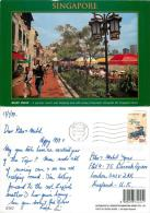 Boat Quay, Singapore Postcard Posted 1998 Stamp - Singapour