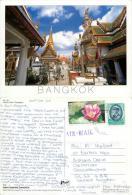 Giant Demons, Bangkok, Thailand Postcard Posted 2002 Nice Stamp - Thaïlande