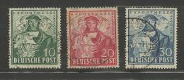 GERMANY, 1949, Cancelled Stamp(s), Export Messe Hannover, Nrs. 103-105, #12721 - [7] Federal Republic