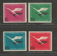 GERMANY, 1955, Unused, Hinged Stamp(s), Lufthansa ,nr(s) 205-208  #12905 - [7] Federal Republic