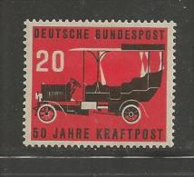 GERMANY, 1955,unused, Hinged Stamp(s), 50 Years Post, Nr(s). 211, #12738 - [7] Federal Republic