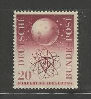 GERMANY, 1955,unused, Hinged Stamp(s), Atom Model, Nr(s). 214, #12756 - [7] Federal Republic