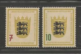 GERMANY, 1955,unused, Hinged Stamp(s), Baden Wurttemberg,nr(s).212-213 #12823 - [7] Federal Republic