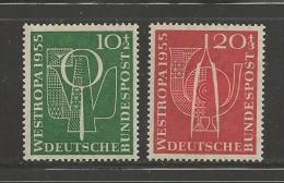 GERMANY, 1955,unused, Hinged Stamp(s), Stamp Exhibition Dusseldorf Nr(s).217-218 #12804 - [7] Federal Republic