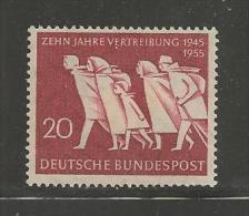 GERMANY, 1955,unused, Hinged Stamp(s), Vertreibung,nr(s) 215 ,#12828 - [7] Federal Republic