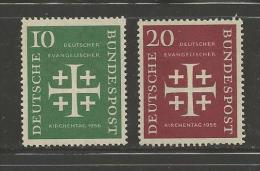 GERMANY, 1956,unused, Hinged Stamp(s), Evangelische Kirsche ,nr(s) 235-236, #12882 - [7] Federal Republic