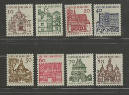 GERMANY, 1964,  Mint Never Hinged Stamp(s), German Buildings Complete,  Nr(s)454-461,   #12916 - [7] Federal Republic