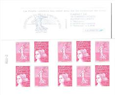 """FRANCE: Carnet   Type """"Marianne Du 14 Juillet""""-""""Les 100ans De La Semeuse De Roty"""" - Usage Courant"""
