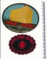 2 ETIQUETTES -  HOTEL  Conde Ansurez - Valladolid - Hotel Labels