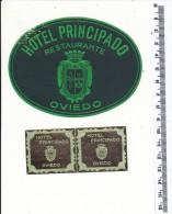 2 ETIQUETTES -  HOTEL Principado - Oviedo - Hotel Labels