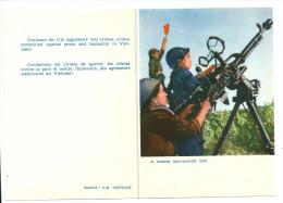 Vietnam DCA Carte De Propagande Contre L'agression Américaine 2 Volets Non écrits TB - Cartes