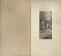 43Orn  Menu Cadre Gauffré écriture Manuelle En 1925 - Menu
