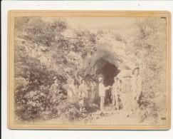 REILHAC, Lot - Photo 19° Contrecollé Sur Carton Fort - Abîme De La Crousate, Groupe De Spéléologues - Photos