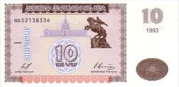 ARMENIE  10 Dram  Daté De 1993   Pick 33a          ***** BILLET  NEUF ***** - Arménie
