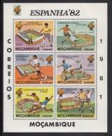 Mozambique MNH Scott #730c Imperf Souvenir Sheet Of 6 Soccer Players, Stadiums - Espana 82 World Cup Soccer - Mozambique