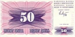 BOSNIE-HERZEGOVINE   50 Dinara  Daté Du 01-07-1992   Pick 12 A            *****  BILLET  NEUF ***** - Bosnia Erzegovina
