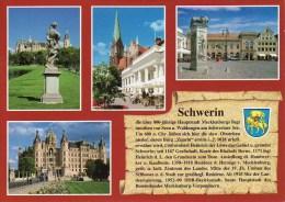 Ansichtskarte Chronikkarte Mit Wappen Schwerin - Schwerin