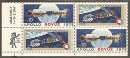 USA. Scott # 1569-70 MNH. Zip Block Of 4. Apollo Soyuz. Joint Issue With Russia  1975 - Joint Issues