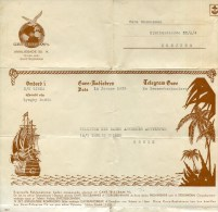 Sweden, Schweden, Telegramm  On Board S/s Linda Via Lyngby Radio, 1939, Ancient Sailing Ship - Covers & Documents