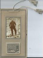 43Orn  Calendrier De 1915 Cadre Photo Militaire Cordon Pompoms Soldat Pas Courant - Calendriers