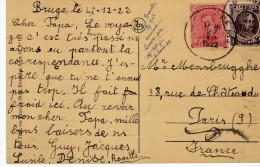 1605     Postal Bruge 1922   Belgica - Bélgica
