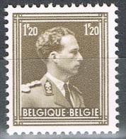 Année 1956 - COB   1005**  SM Le Roi Leopold III  -  1F20 Brun Sépia  -  Cote 2,50 € - Unused Stamps