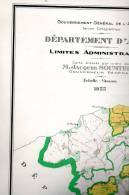 Carte Geographique Departement D'Alger- Limites Administratives-.1955 - Geographical Maps