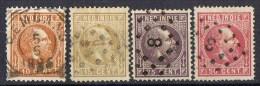 Cuatro Sellos  India Holandesa, Nederland Indie, Num 10-11-12-14  º - Indes Néerlandaises