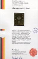 Edition Raritäten In Gold Deutschland Berlin 358 ** 50€ Mit 23 Karat Feingold Berliner Filmfestival Art Stamp Of Germany - Brieven En Documenten