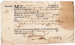 VP1001 - Ville De MORTAGNE 1772 - Cachets Généralité