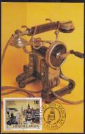 3402. Yugoslavia, 1992, 100th Anniversary Of Public Telephone Traffic In Novi Sad, CM - Cartoline Maximum