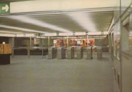 """BRUXELLES (métro) - L1  -  """"De Brouckère"""" : Mezzanine.......  (scan Verso). - Metro"""