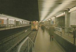 """BRUXELLES (métro) - L1  -  """"De Brouckère""""......  (scan Verso). - Metro"""