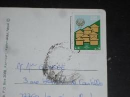 LETTRE NEPAL AVEC YT 491 - LOGEMENT POUR TOUS - CPM RHODODENDRONS - - Nepal
