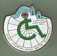 33839-Pin's Lions Club.association.handicap E.aubagne Garlaban. - Associazioni