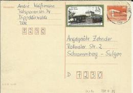 ALEMANIA DDR ENTERO POSTAL CIRCULADO  DIPPOLDIS WALDE - Postales - Usados