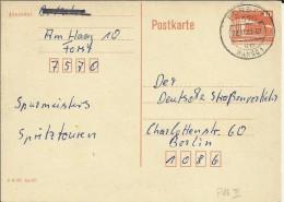 ALEMANIA DDR ENTERO POSTAL CIRCULADO MAT FORST - [6] República Democrática