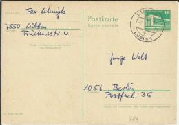 ALEMANIA DDR ENTERO POSTAL CIRCULADO MAT LUBBEN - Postales - Usados