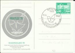 ALEMANIA DDR ENTERO POSTAL SOZPHILEX 78 MAT BERLIN - [6] República Democrática