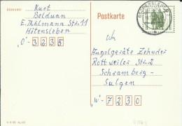 ALEMANIA DDR ENTERO POSTAL MAT OSCHERSLEBE - Postales - Usados
