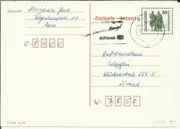 ALEMANIA DDR ENTERO POSTAL MAT RIESA ALLIANZ - [6] República Democrática
