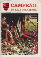 FLAMENGO Football Brazil Large 1984 Fold-out Poster As GUANABARA CUP WINNER / CAMPEAO DA TACA GUANABARA - Apparel, Souvenirs & Other